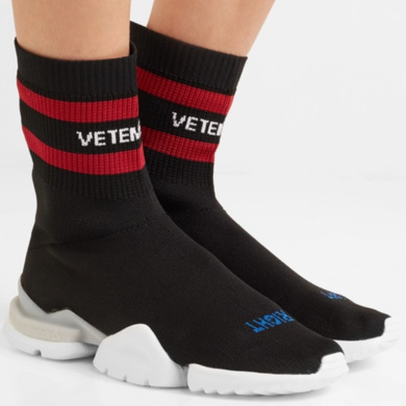 4cde4dc16a7 Vetements x Reebok Logo Jacquard Knit Sock Sneaker